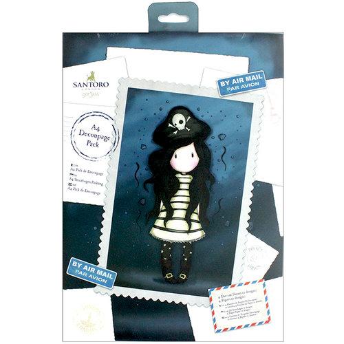 Santoro London - Gorjuss - A4 Decoupage Pack - Piracy
