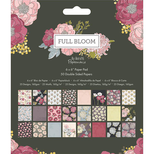 DoCrafts - Full Bloom Collection - 6 x 6 Paper Pad