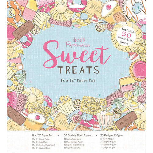 DoCrafts - Sweet Treats Collection - 12 x 12 Paper Pad