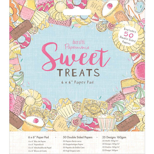 DoCrafts - Sweet Treats Collection - 6 x 6 Paper Pad