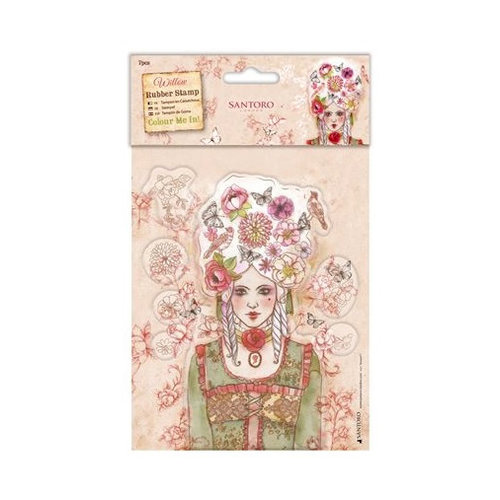 Santoro London - Willow Rubber Stamp - Marie-Antoinette