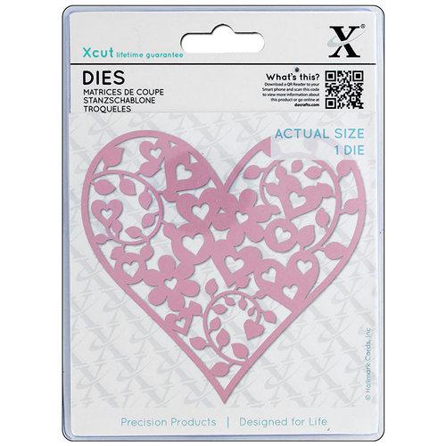 DoCrafts - Xcut - Die Set - Floral Love Heart