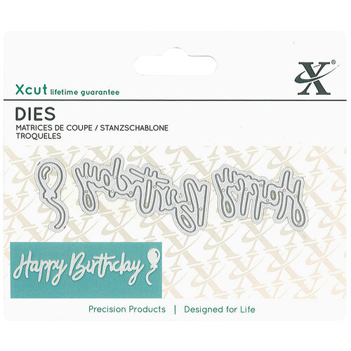 DoCrafts - Xcut - Die Set - Mini - Sentiment Happy Birthday