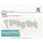 DoCrafts - Xcut - Die Set - Mini - Sentiment Happy Birthday