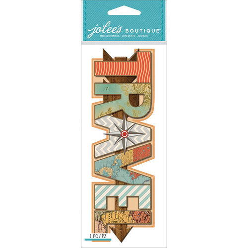 EK Success - Jolee's Boutique - 3 Dimensional Title Stickers - Travel