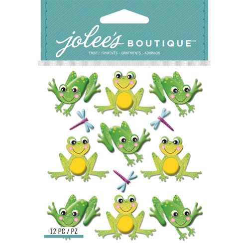 EK Success - Jolee's Boutique - 3 Dimensional Stickers - Repeat Cutesy Frogs
