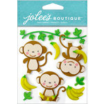 EK Success - Jolee's Boutique - 3 Dimensional Stickers - Cutesy Monkeys