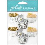 EK Success - Jolee's Boutique - 3 Dimensional Stickers with Glitter Accents - Cupcakes Repeats