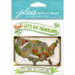 EK Success - Jolee's Boutique - 3 Dimensional Stickers - USA Map