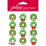 EK Success - Jolee's Boutique - Christmas - 3 Dimensional Stickers - Christmas Wreaths Repeats