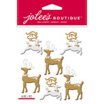 EK Success - Jolee's Boutique - Christmas - 3 Dimensional Stickers - Reindeer Repeats