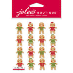 EK Success - Jolee's Boutique - Christmas - 3 Dimensional Stickers - Gingerbread Men Repeats
