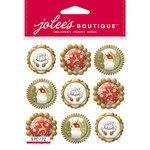 EK Success - Jolee's Boutique - Christmas - 3 Dimensional Stickers - Holiday Icon Baubles Repeats