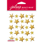 EK Success - Jolee's Boutique - Christmas - 3 Dimensional Stickers - Gold Stars Repeats