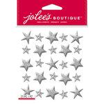 EK Success - Jolee's Boutique - Christmas - 3 Dimensional Stickers - Silver Stars Repeats