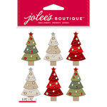 EK Success - Jolee's Boutique - Christmas - 3 Dimensional Stickers - Embellished Trees Repeats