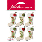 EK Success - Jolee's Boutique - Christmas - 3 Dimensional Stickers - Christmas Stockings Repeats