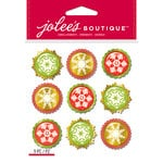 EK Success - Jolee's Boutique - Christmas - 3 Dimensional Stickers - Snowflakes Baubles Repeats