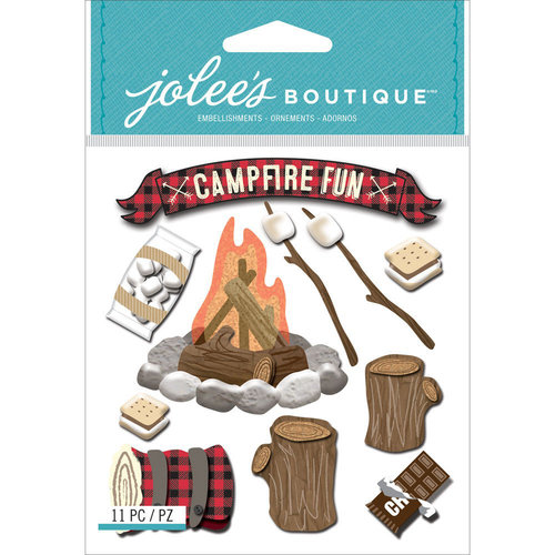 EK Success - Jolee's Boutique - 3 Dimensional Stickers - Campfire