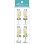 EK Success - Jolee's Boutique - 3 Dimensional Stickers - Champagne Glasses