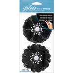 EK Success - Jolee's Boutique Le Grande - 3 Dimensional Stickers - Chalkboard Flowers