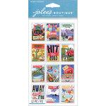 EK Success - Jolee's Boutique Le Grande - 3 Dimensional Stickers - Travel Stamps