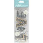 EK Success - Jolee's Boutique - 3 Dimensional Stickers - Title Wave - Sequin Love