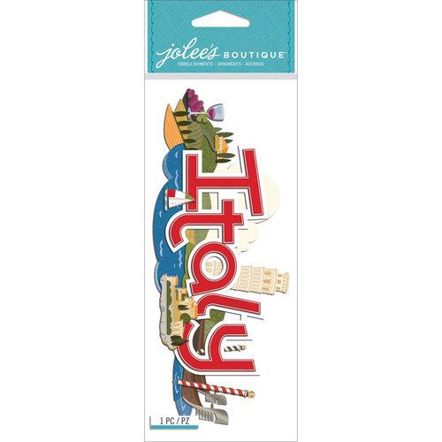 EK Success - Jolee's Boutique - 3 Dimensional Stickers - Title Wave - Italy