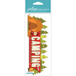 EK Success - Jolee's Boutique - 3 Dimensional Stickers - Title Wave - Camping