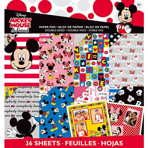 EK Success - Disney Collection - 12 x 12 Paper Pad - Mickey Friends