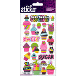EK Success - Sticko - Glitter Stickers - Cupcakes