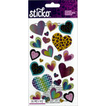 EK Success - Sticko - Stickers - Patterned Hearts