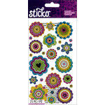 EK Success - Sticko - Stickers - Graphic Flowers