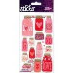 EK Success - Sticko - Stickers - Mason Jar - Love
