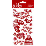 EK Success - Sticko - Stickers - Holiday Glitter Words