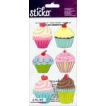 EK Success - Sticko - Puffy Stickers - Jumbo Cupcakes