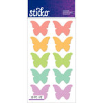EK Success - Sticko - Stickers - Labels - Bright Butterfly Silhouette