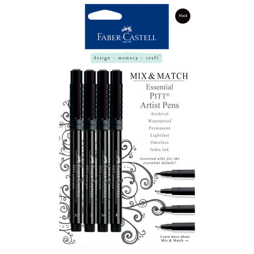Faber-Castell Mix and Match Collection Pitt Artist Pens Essential 4 Piece Set