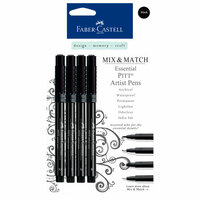 Faber-Castell - Mix and Match Collection - Pitt Artist Pens - Essential - 4 Piece Set