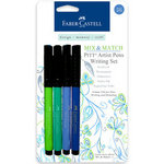 Faber-Castell - Mix and Match Collection - Pitt Artist Pens - Blue and Green - 4 Piece Set