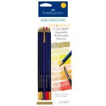 Faber-Castell - Mix and Match Collection - Art Grip Watercolor Pencils - Yellow - 9 Piece Set