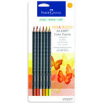 Faber-Castell - Mix and Match Collection - Art Grip Color Pencils - Yellow - 6 Piece Set