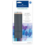 Faber-Castell - Mix and Match Collection - Art Grip Color Pencils - Blue - 6 Piece Set