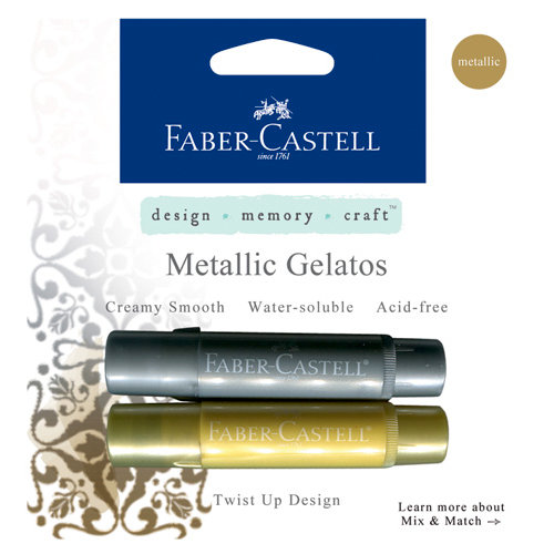 Faber-Castell - Mix and Match Collection - Color Gelatos - Metallic - Gold and Silver - 2 Piece Set