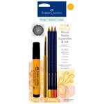 Faber-Castell - Mix and Match Collection - Mixed Media Pencils and Ink - Yellow - 4 Piece Set
