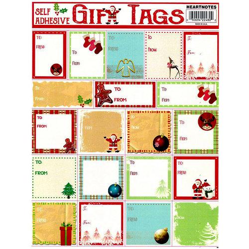 Draper International - Christmas - Heartnotes Stickers - Xmas Tags - Vintage