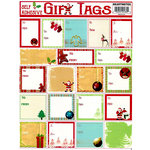 Draper International - Christmas - Heartnotes Stickers - Xmas Tags - Vintage