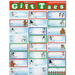 Draper International - Christmas - Heartnotes Stickers - Xmas Tags - Gingerbread