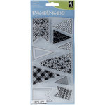 Inkadinkado - Clear Acrylic Stamps - Banners and Flags