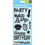Inkadinkado - Clear Acrylic Stamps - Marquee Birthday